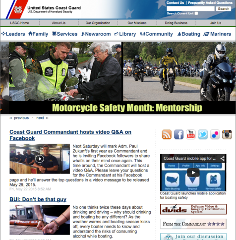 USCG.Mil Website
